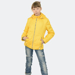 Демисезонная куртка для девочки, модель К4 цвет желтый, рост 122-158