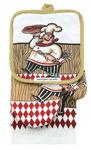 Набор кухонный: полотенце, варежка, прихватка №ПВ100-3
