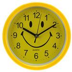 "Часы настенные ""Смайлик"" д20,5х1,2см, мягкий ход, циферблат желтый, пластм., желтый"
