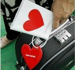 Обложка на паспорт+бирка на чемодан Сердце