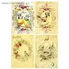 """Декупажная карта """"Карточки с птичками и гнездышками"""" плотность 45г/м2 формат А4"""