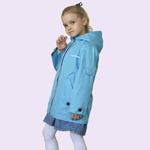 Плащ-ветровка для девочки, модель ВЛ2, цвет голубой, рост 116