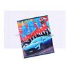 Тетрадь 18л А5ф клетка на скобе Обл. мелованная бумага серия -Car Design-