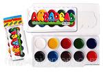 """Акварельные краски """"ЛК"""" (10 цветов) для детского творчества."""