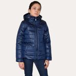 Куртка демисезонная, для девочки, модель ПН6, цвет синий cire