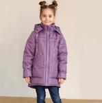 Куртка демисезонная для девочки, модель ДМ4, цвет сиреневый CIRE, рост 122