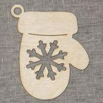 Ёлочная игрушка из дерева для декупажа и росписи