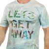 Светлая мужская футболка YMN в дизайне SCENERY FASHION. Твоя модная визитка №ТР166