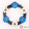Венок круглый с цветочками (1,2м) ) микс