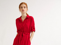 Длинное платье рубашечного кроя PL596/picasso