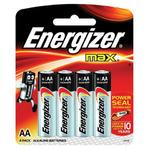 Батарейки ENERGIZER MAX AA LR6, КОМПЛЕКТ 4шт., АЛКАЛИН, 1.5B, (работают до 10 раз дольше) 451794