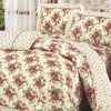 """Артикул: 730. Комплект постельного белья (КПБ) из поплина """"Махровая роза"""""""