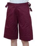 Бордовые городские шорты для девушек №И112