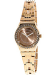 Swatch Irony Kiroyal Rose Gold Dial Stainless Steel Ladies Watch YSG154G