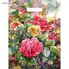 """Пакет """"Розы на холсте"""", полиэтиленовый с вырубной ручкой, 45 х 38 см, 60 мкм"""