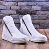 Женские кожаные ботинки на танкетке (байка/экомех/цигейка)