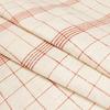 Ткань в красную клетку лен 100%