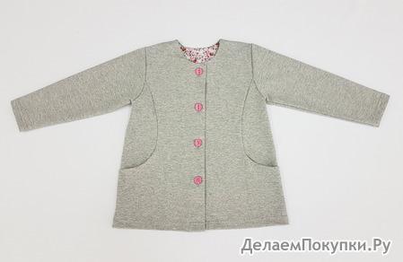 Кофта-пиджак для девочки ФР5-9 серый
