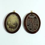 """Брелок-кулон из обсидиана """"Святая Троица"""" 40*31мм овал, 30гр Артикул:142128"""