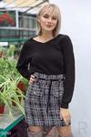 Комфортный пуловер с заниженной линией плеча