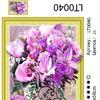 """Алмазная мозаика 3D, 40х50 см АМ3D LT0040 """"Лиловый букет в белой вазе"""", 40х50"""