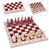Игра 2в1 малая 400*200*34 (шашки, шахматы парафин.)