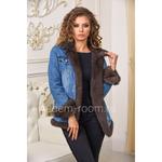 Осенняя куртка - джинсовка с мехом норки на весну