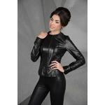 Кожаная черная куртка, короткий размер - Новинка