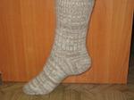 Шерстяные носки круговой вязки меланж(женские)