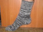 Шерстяные носки круговой вязки меланж(мужские)