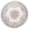 Салфетка ажурная, ПВХ, d30см, белая серебро 418-005