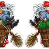 Набор для вышивания ЖАР-ПТИЦА арт.Р-346 Бабушка Яга 16х12 см