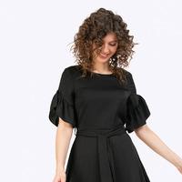 Платье А-силуэта с поясом PL878/arty