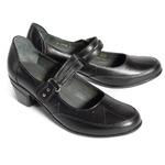 Туфли летние женские, натуральная кожа, черные