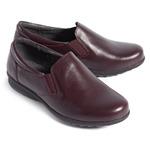 Туфли летние женские, увеличенная полнота, натуральная кожа, бордовые