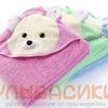 Детское махровое полотенце с капюшоном 90 х 90