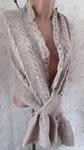 шарф накидка замок