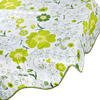 Vetta. Скатерть виниловая с каймой, d137см, Зелёные цветы 0146-1, GC 479-184