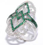 Серебряное кольцо Артикул: 01qrggg01660e-19