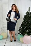 Костюм  жакет + юбка (на фото с блузкой 0392