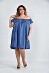 Туника-Платье с открытыми плечами 0501-1