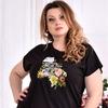стрейчевая футболка 0561-1 (турецкий трикотаж)