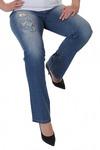 Дизайнерские женские джинсы Sheego.  Все 33 удовольствия: вышивка, пайетки, стразы. Размеры до батального 70-го! №2004