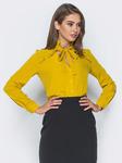 Романтическая блузка с V-образным вырезом