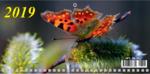Календарь трехсекц. 2019 245*450 Бабочка 09-19017
