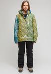 Женский зимний горнолыжный костюм большого размера салатового цвета 01830-2Sl