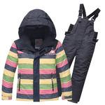 Детский зимний горнолыжный костюм темно-серого цвета 8813TC