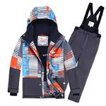 Подростковый для мальчика зимний горнолыжный костюм оранжевого цвета 8825O