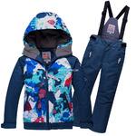 Подростковый для мальчика зимний горнолыжный костюм синего цвета 8823S