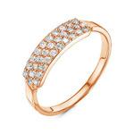 Золотое кольцо с бесцветными фианитами - 1140